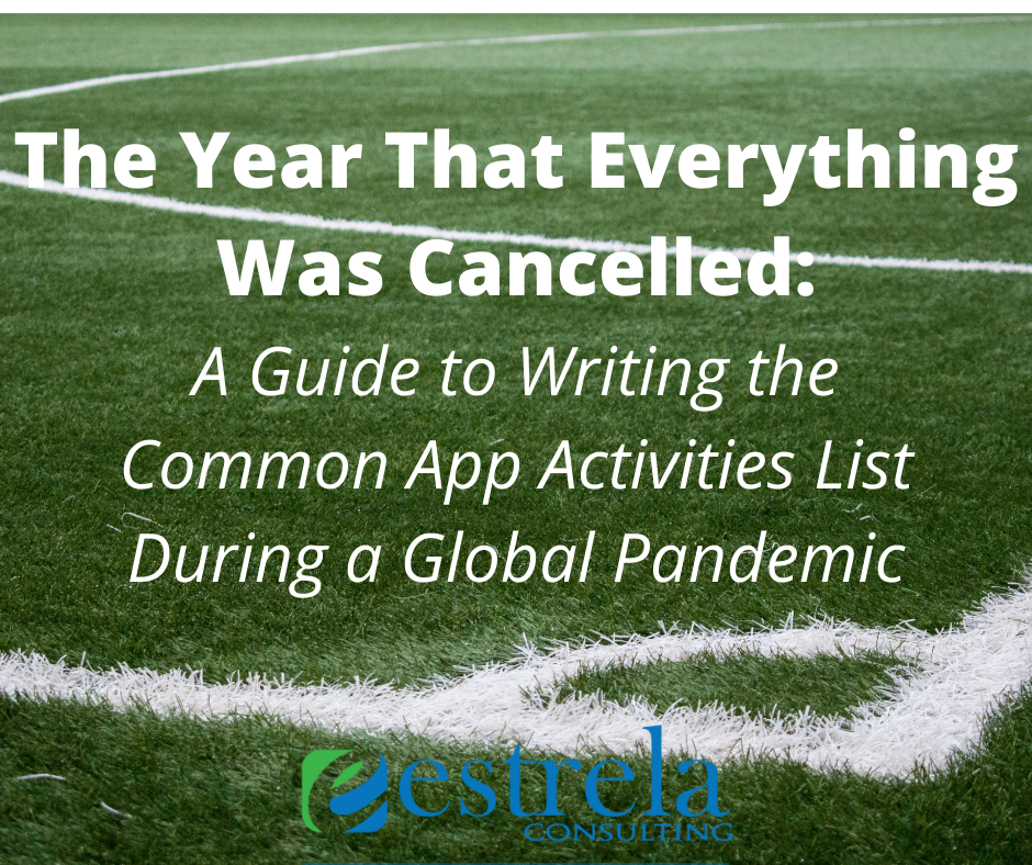 A Guide to Writing the Common App Activities List During a Global Pandemic