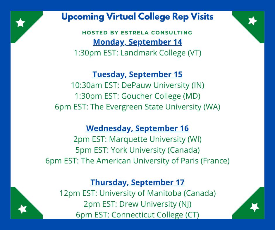 VIRTUAL VISITS WEEK 6