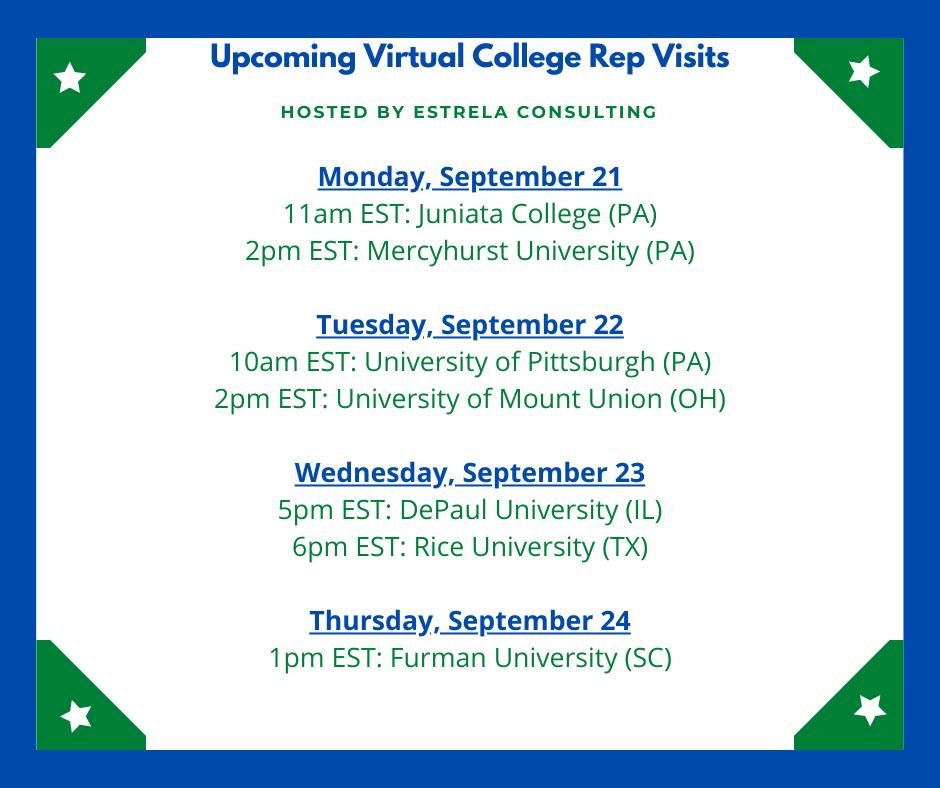 VIRTUAL VISITS WEEK 7