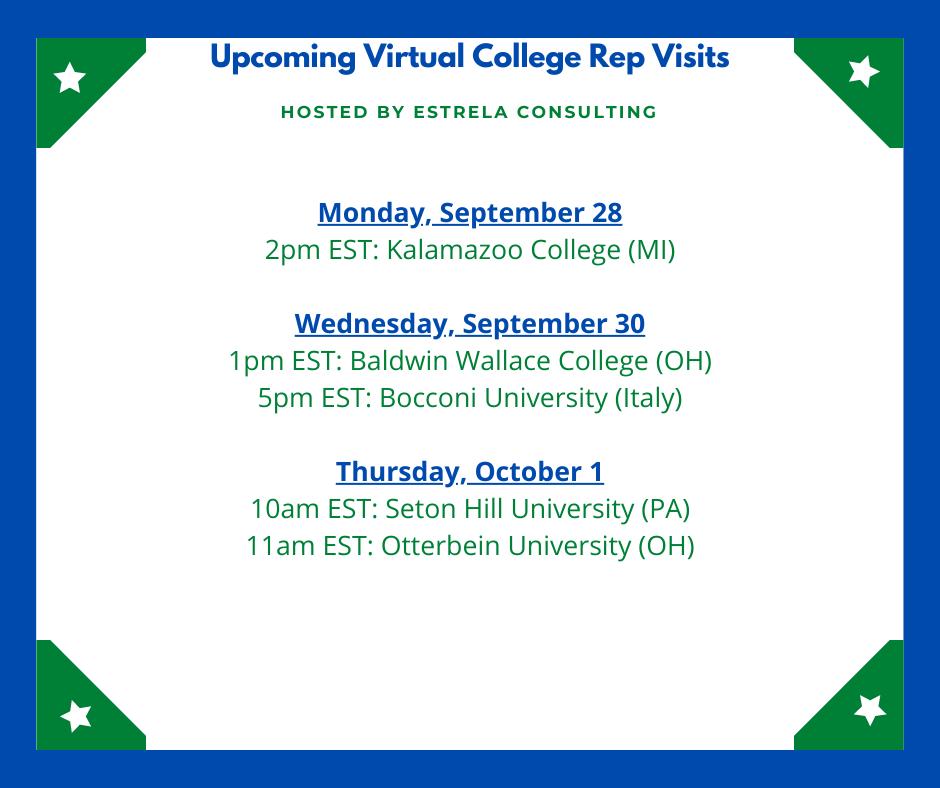 VIRTUAL VISITS WEEK 8